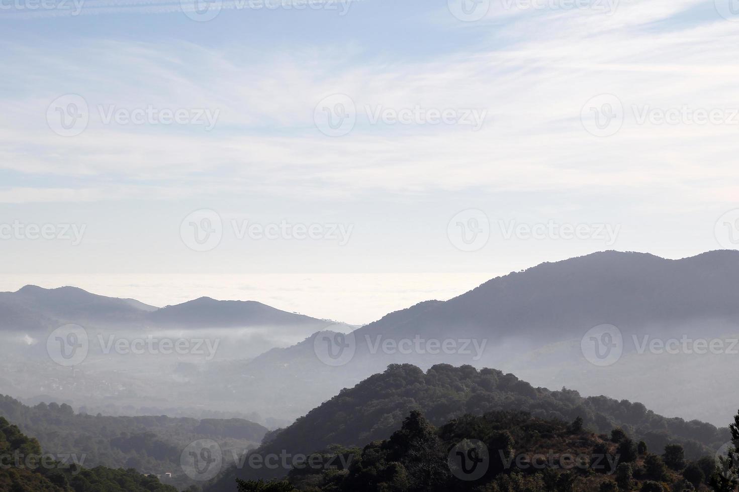 paisagem nebulosa foto