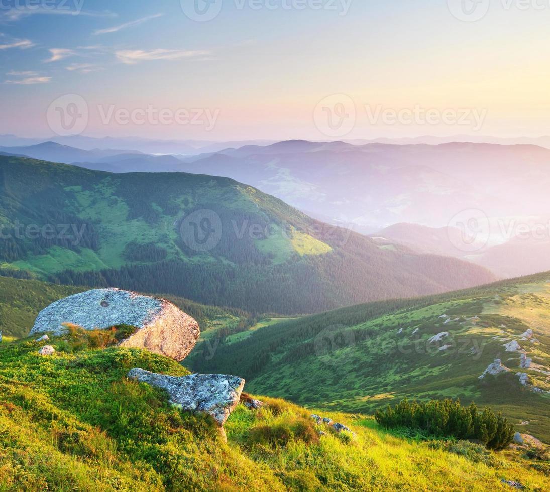 paisagem montanhosa. foto
