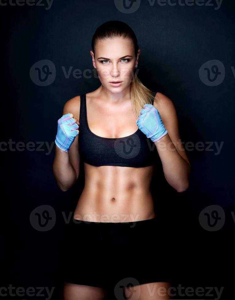 menina linda boxer foto