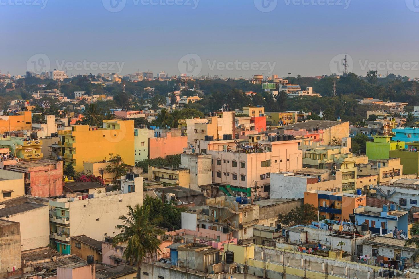 skyline da cidade de bangalore foto
