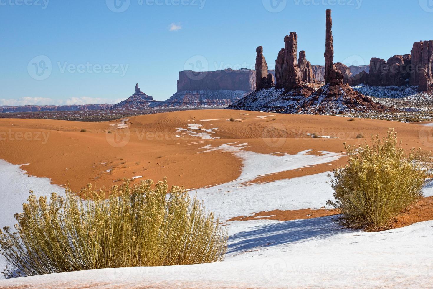 monumento vale dunas de inverno foto
