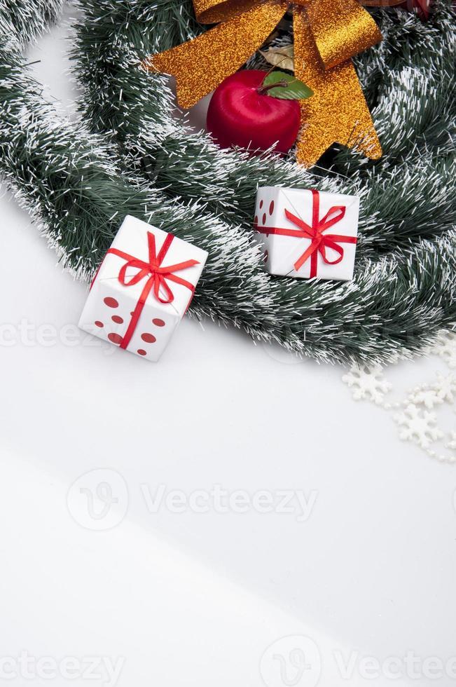 decorações de natal e tema de inverno foto