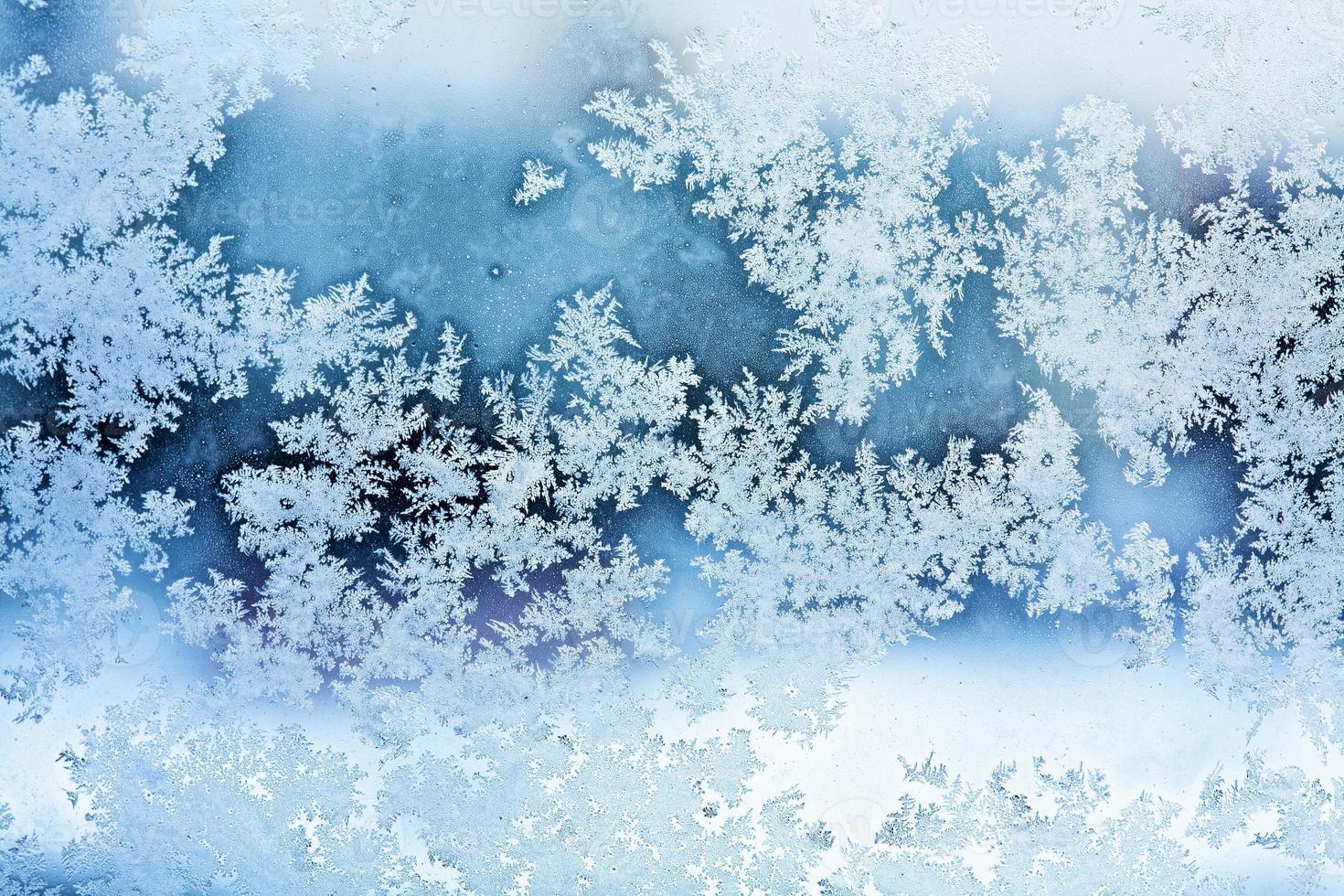 abstrato de geada de inverno foto