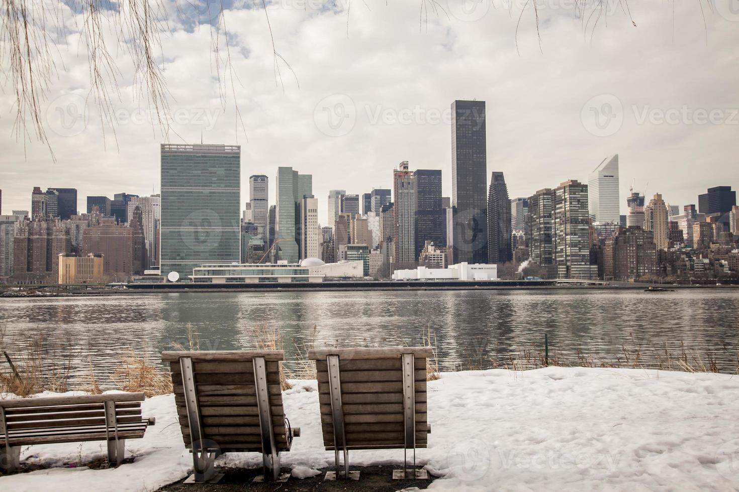 inverno em new york city foto
