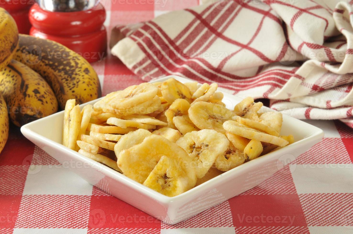chips de banana seca foto