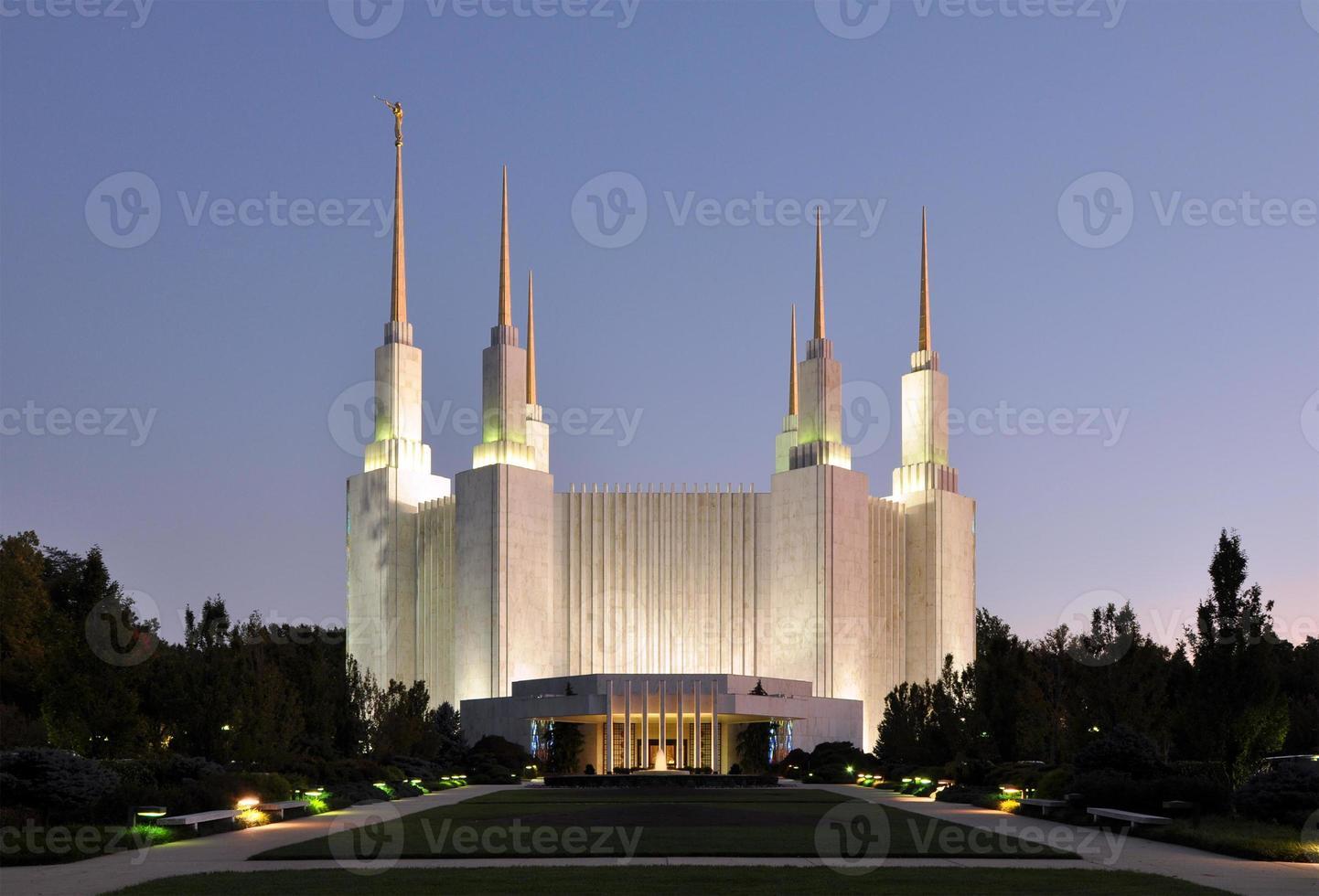 templo mórmon de washington dc foto