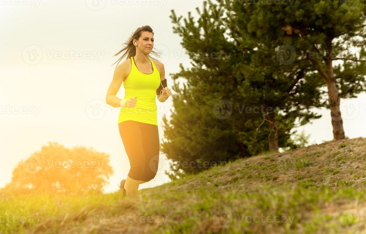 mulher corre. foto