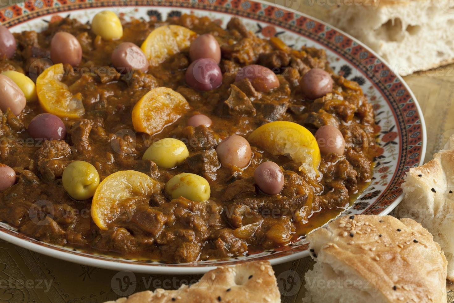 prato com douara marroquino tradicional foto