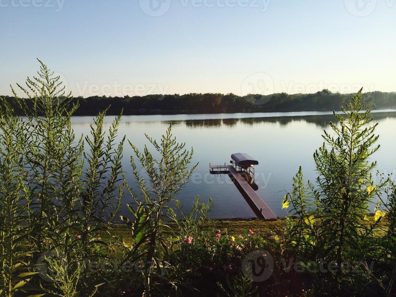 juncos lago, michigan foto