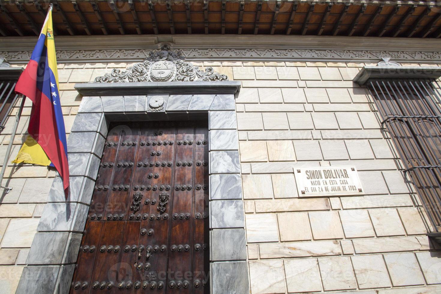local do nascimento de simon bolivar casa, caracas, venezuela foto