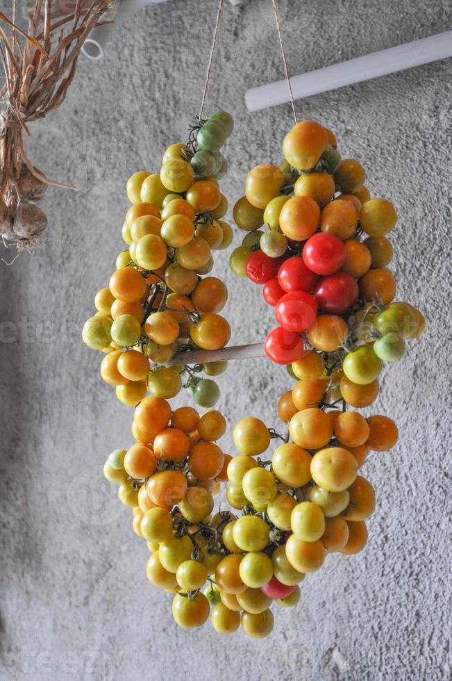 legumes de tomate cereja foto