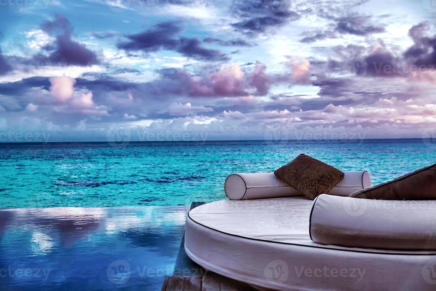 resort de praia de luxo foto