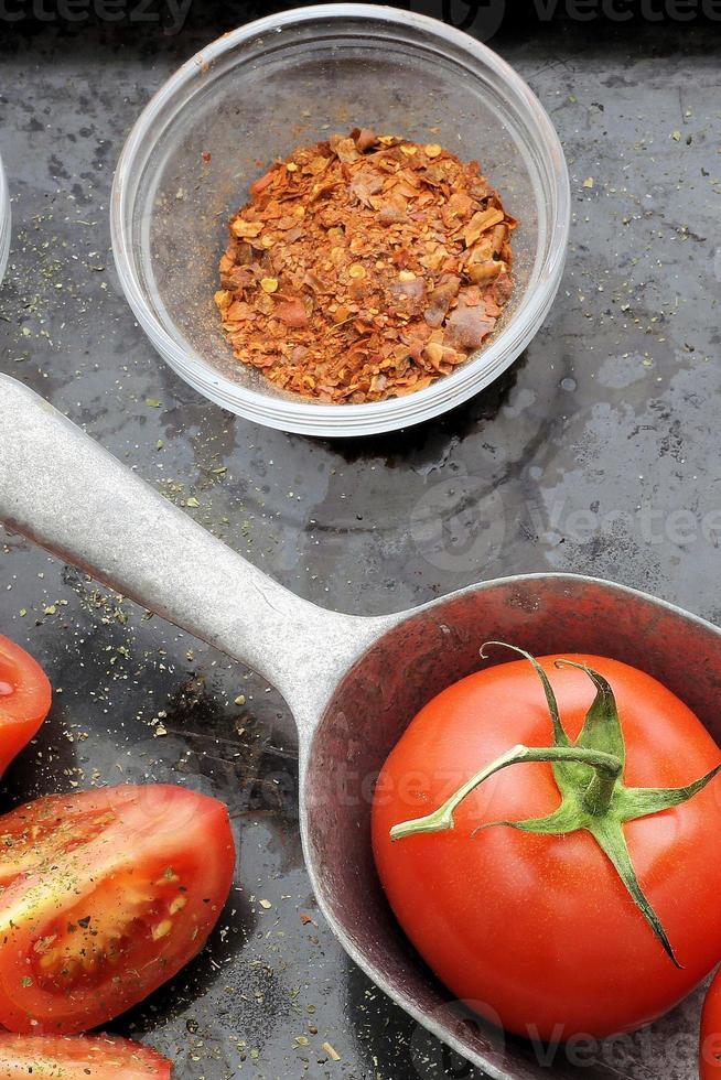 estilo vintage de tomate foto