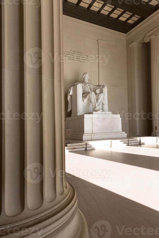 abraham lincoln memorial edifício washington dc foto