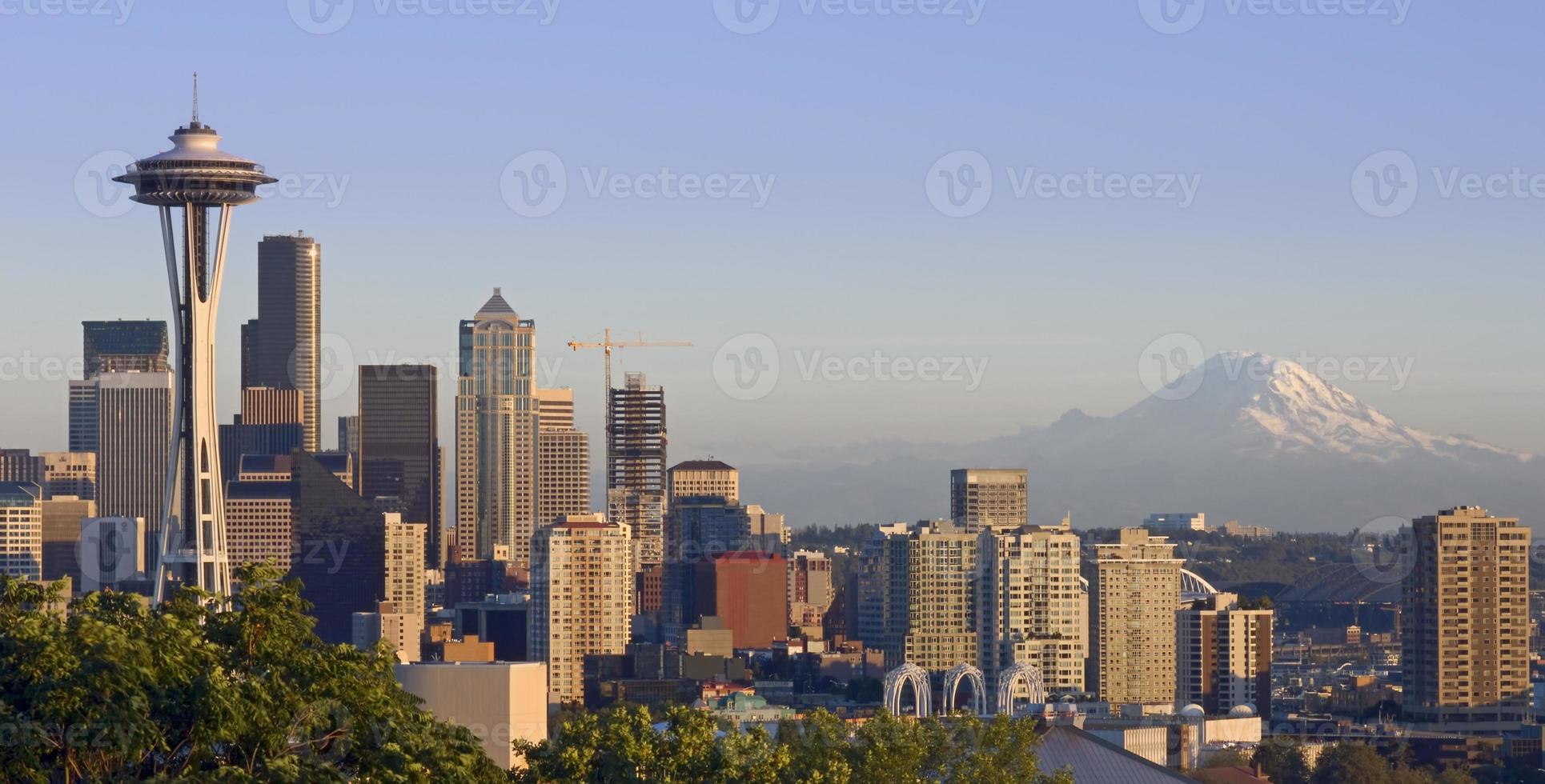 Seattle e a montanha foto