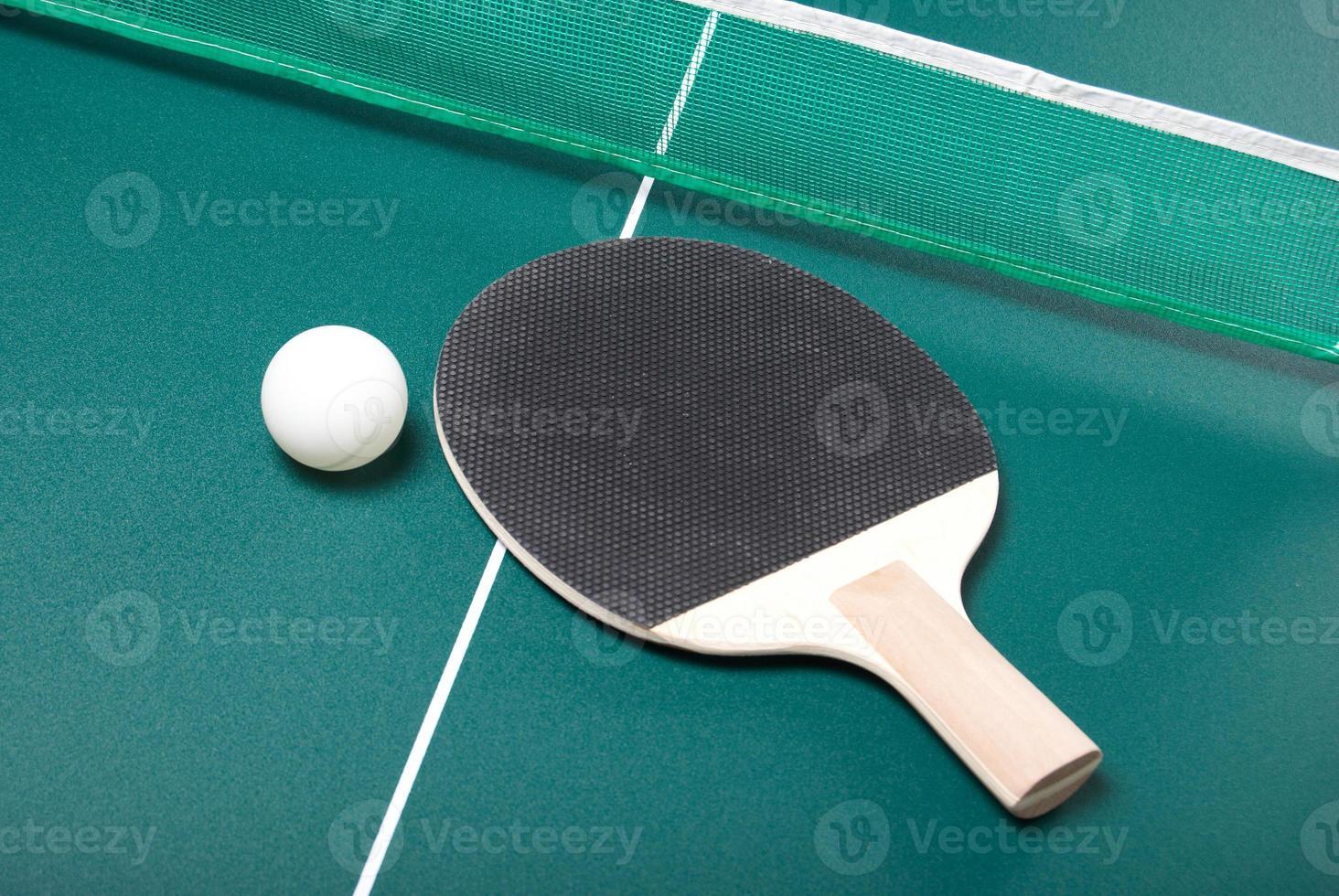 raquete e bola foto