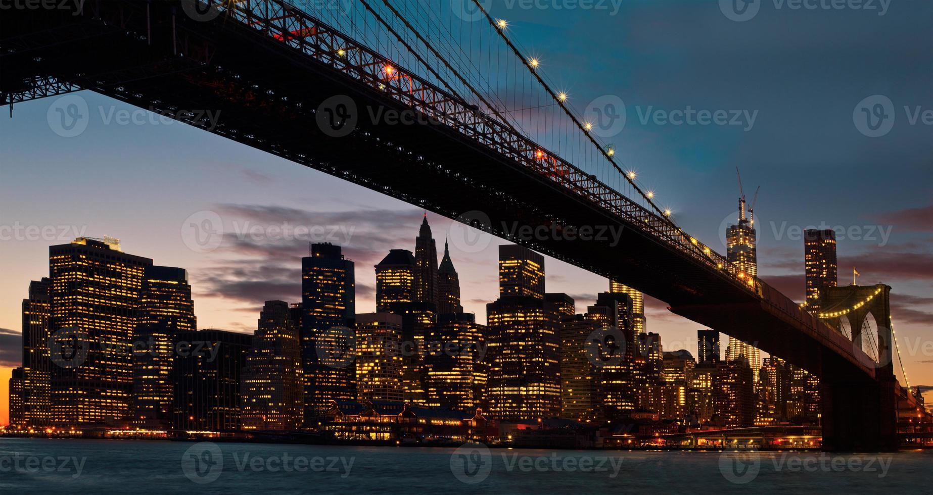 ponte de brooklyn, nova iorque foto