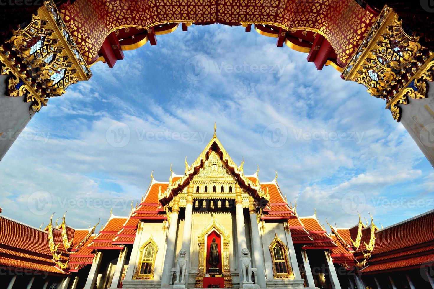 wat benchamabophit, bangkok, tailândia foto