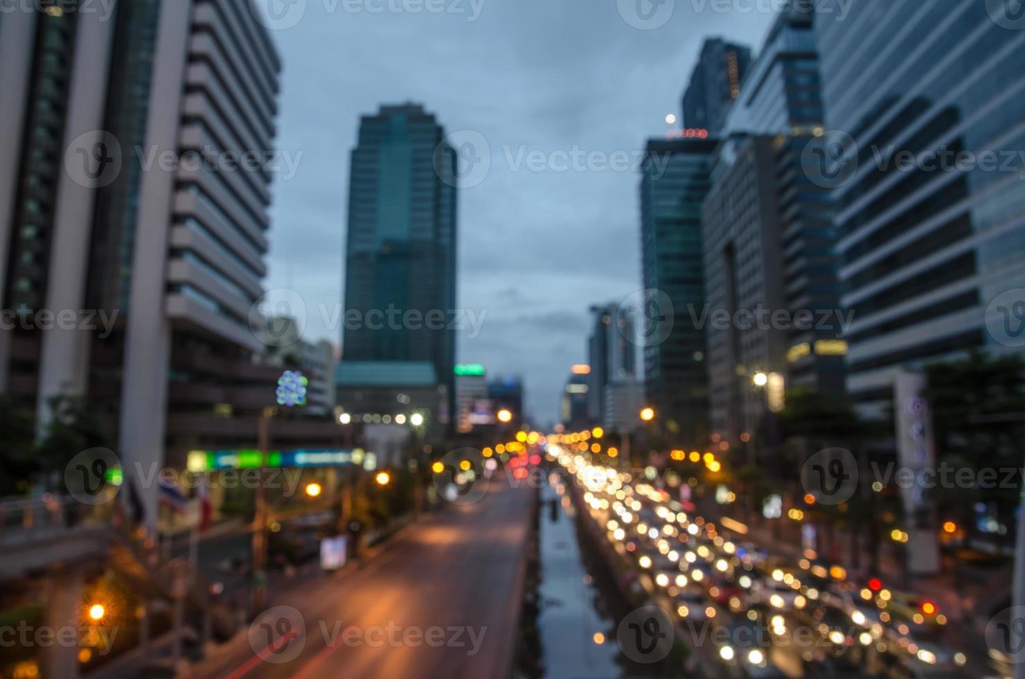 Tailândia, estrada de Banguecoque com construção foto