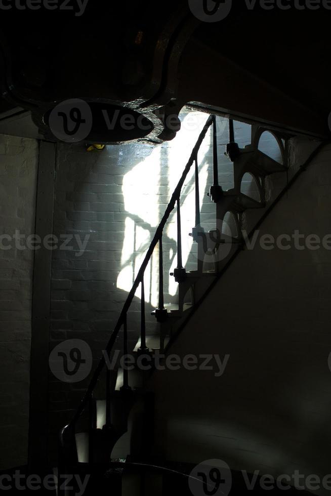 escadas no farol de montauk foto