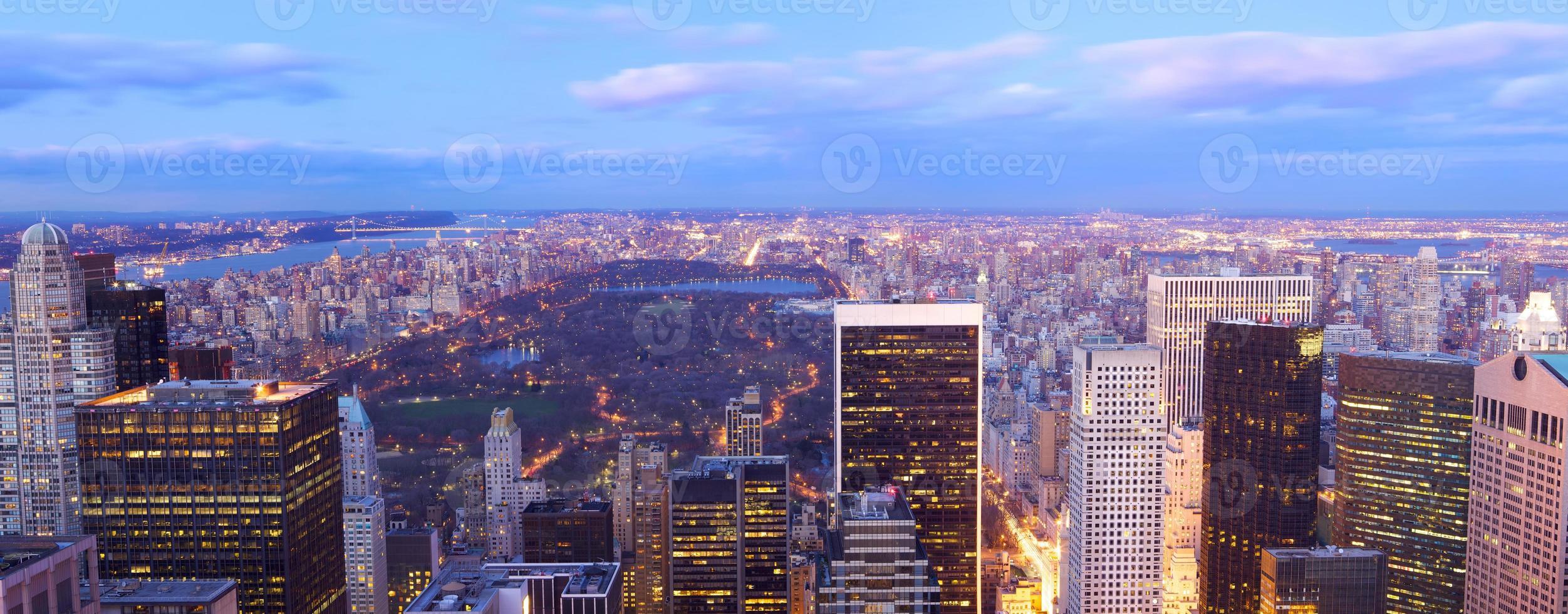 panorama de vista aérea do central park foto