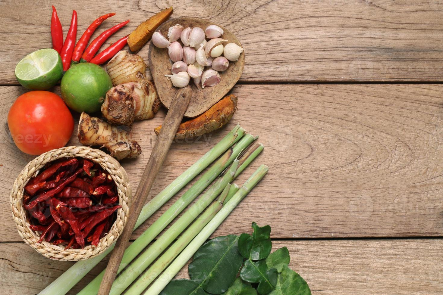 ingredientes alimentares da Tailândia. foto