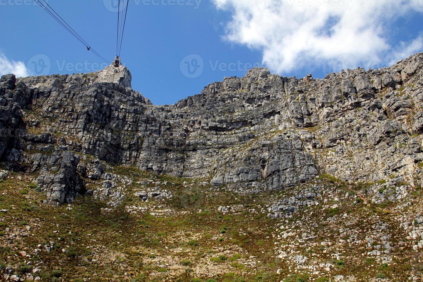 vista da montanha da mesa, áfrica do sul foto