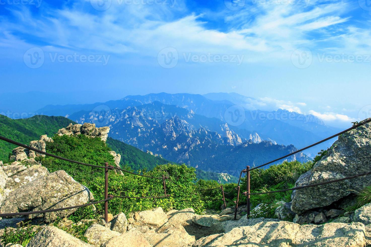 Seoraksan National Park, o melhor da montanha na Coréia do Sul. foto