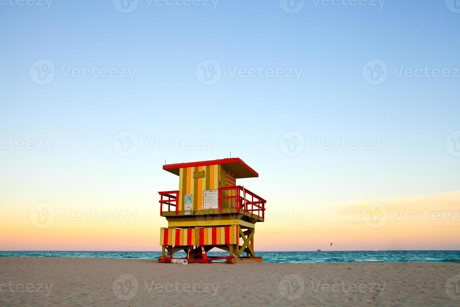 casa de salva-vidas de miami beach foto