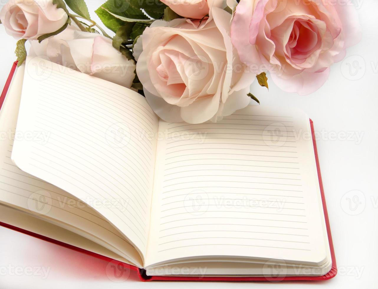 caderno com flores foto