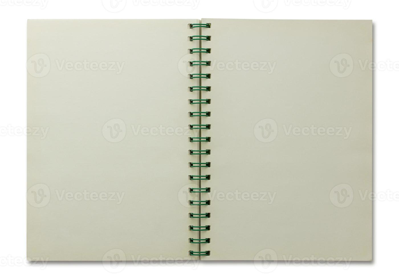 caderno espiral aberto isolado foto