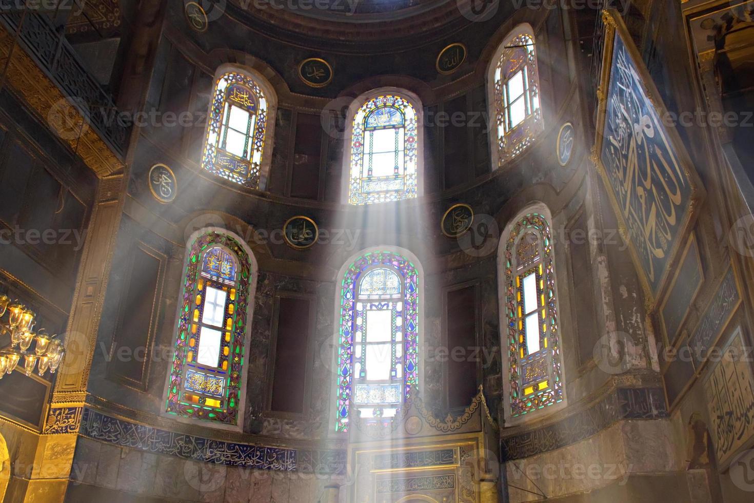 Mesquita hagia sophia em Istambul foto