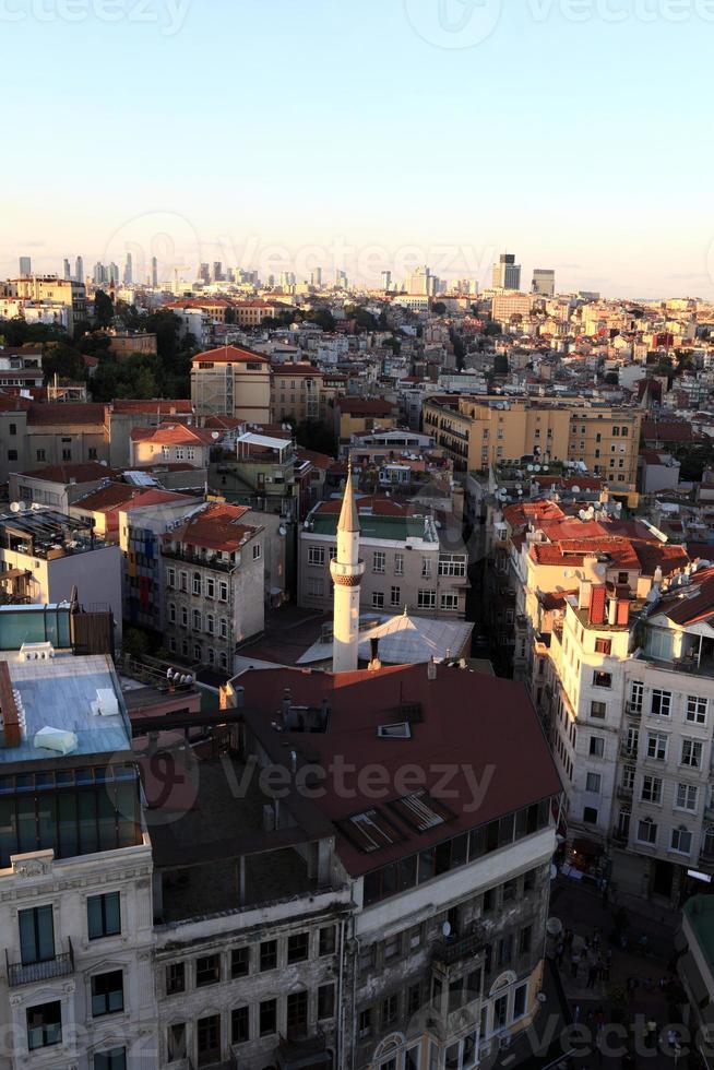 vista de Istambul da torre galata foto