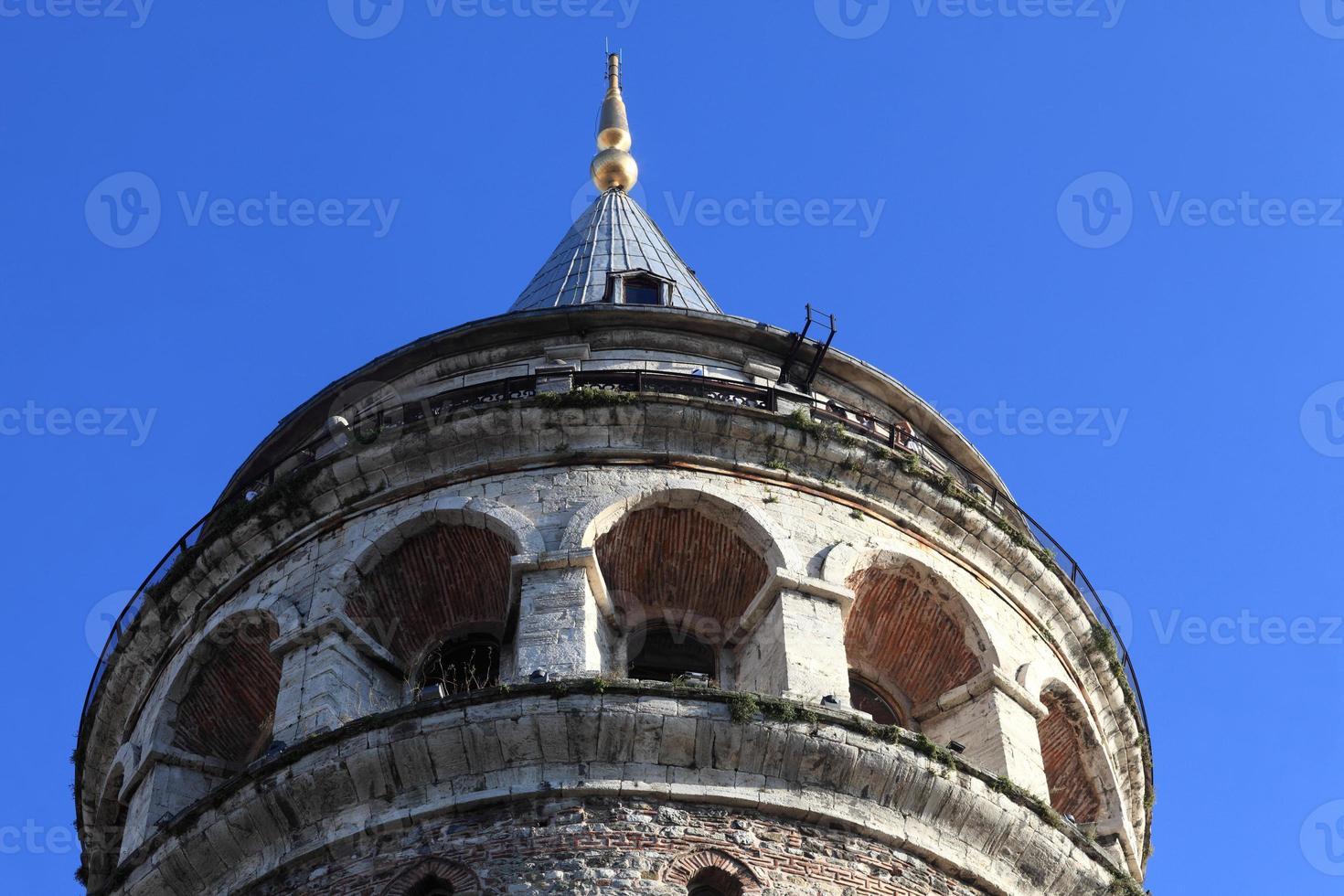 detalhes da torre galata foto