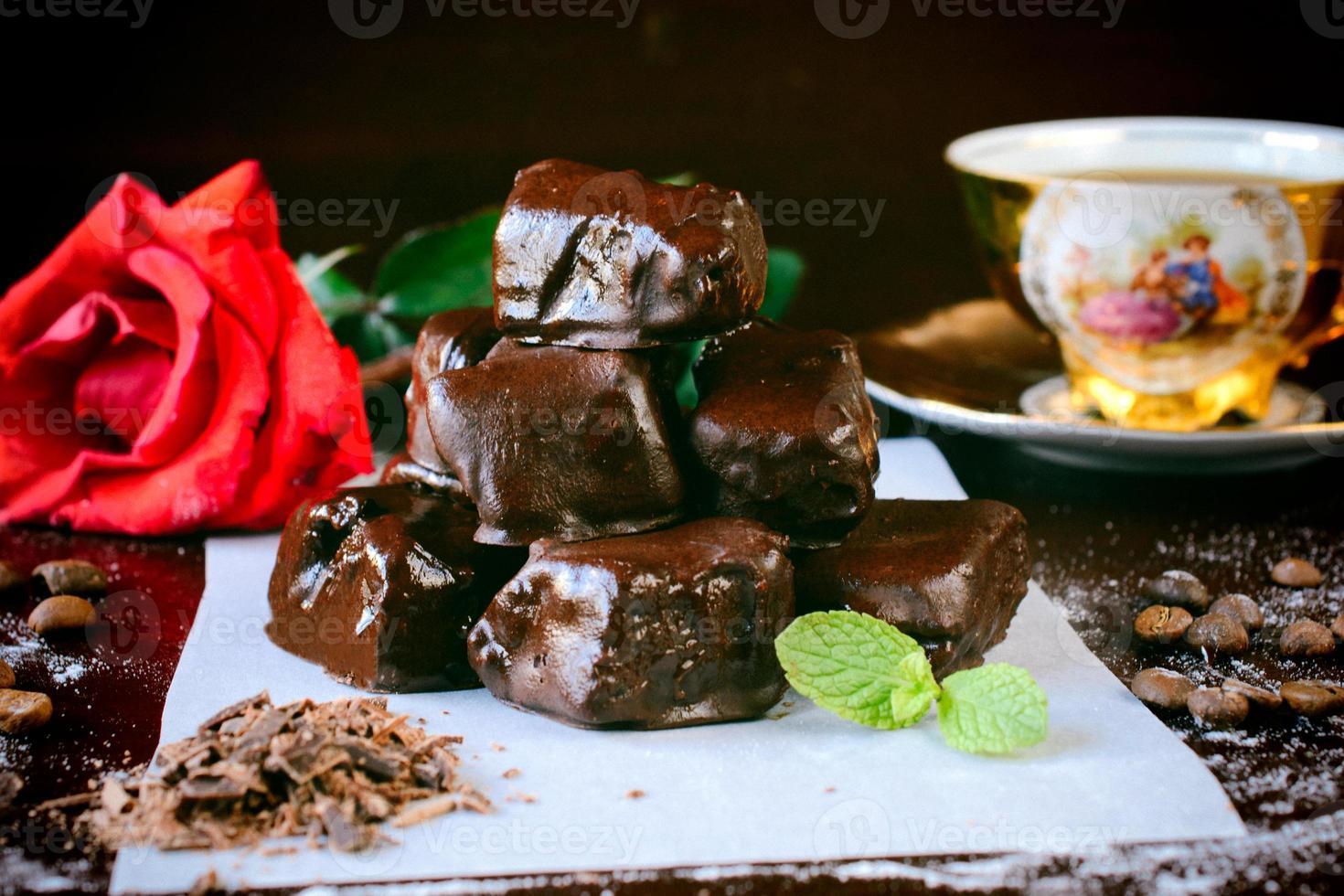 delícia turca de chocolate foto