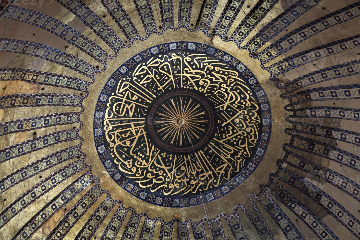 cúpula principal de hagia sophia foto