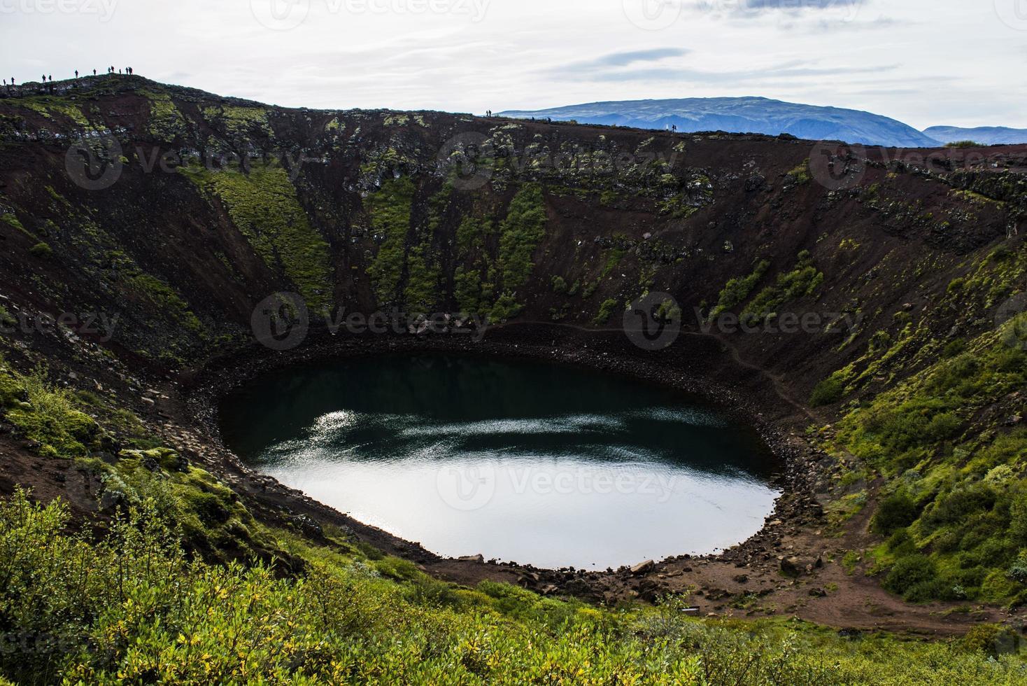 lago em vulcano foto