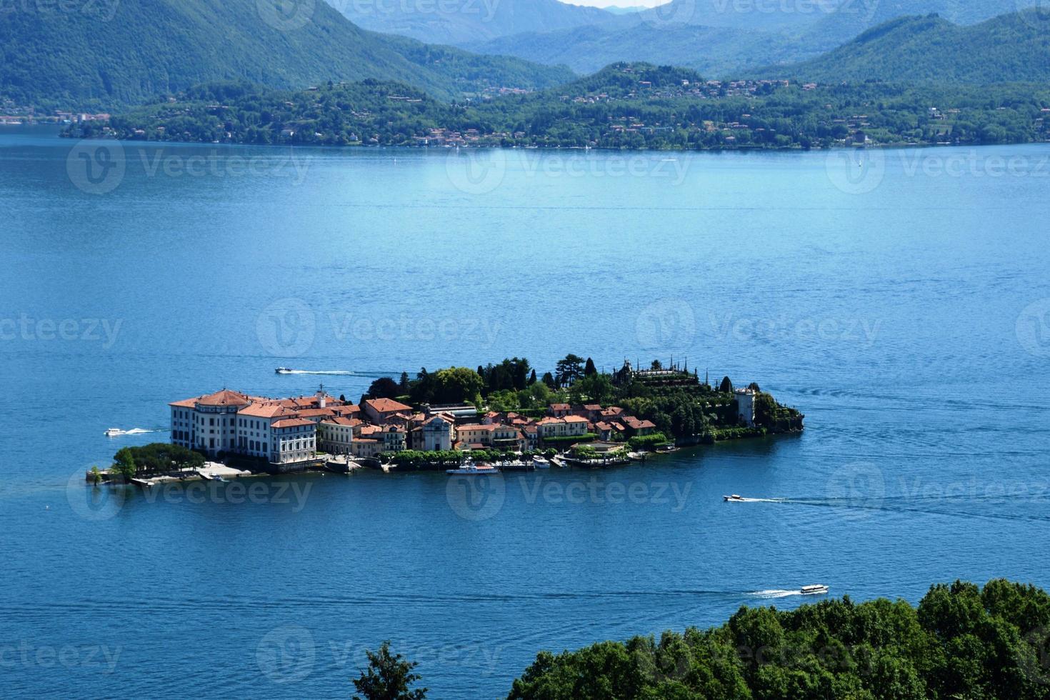 isola bella lago maggiore na itália foto