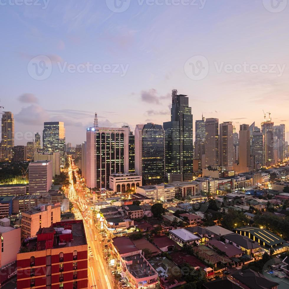 skyline de makati (metro manila) foto