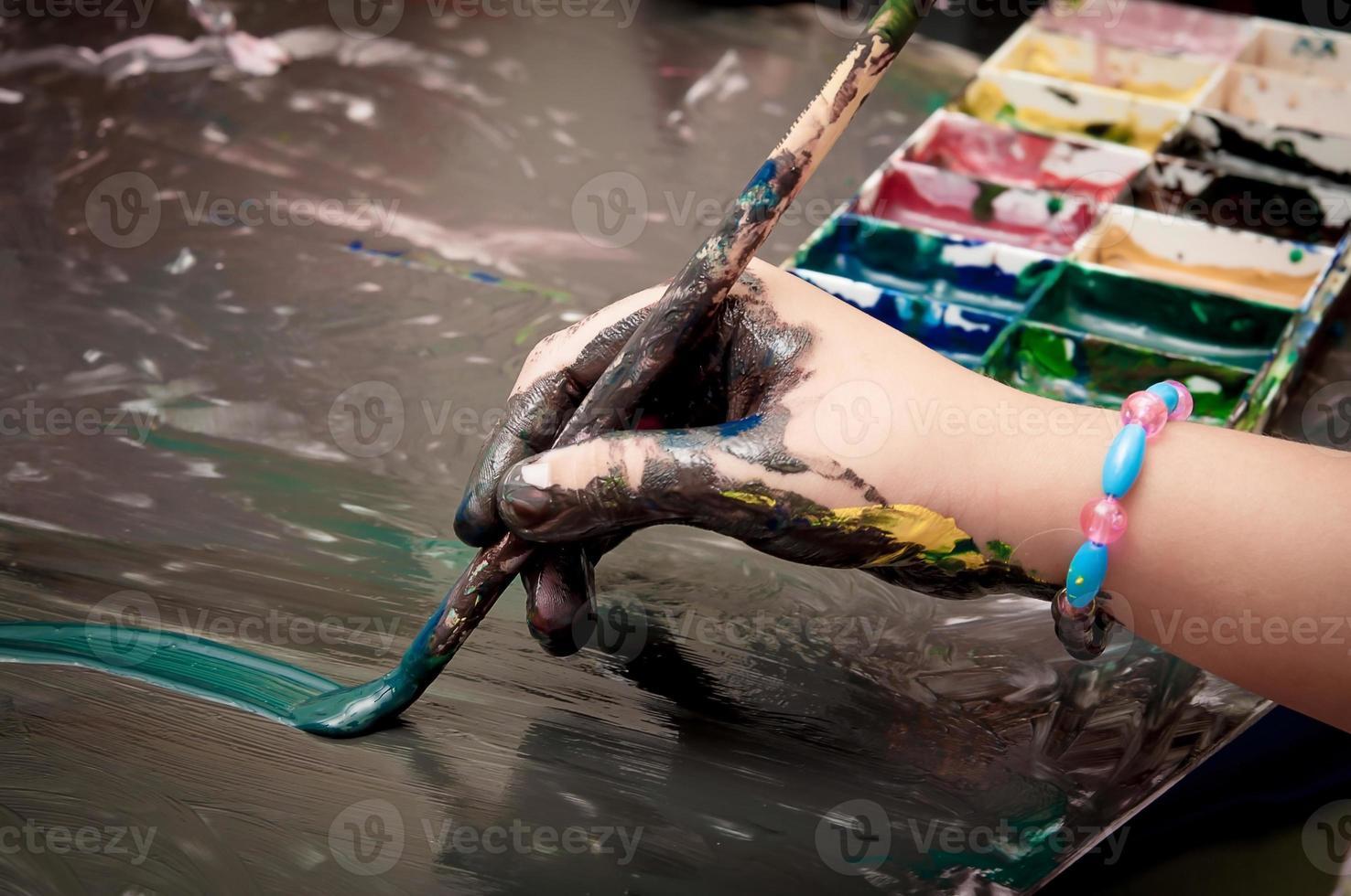 pintura infantil foto