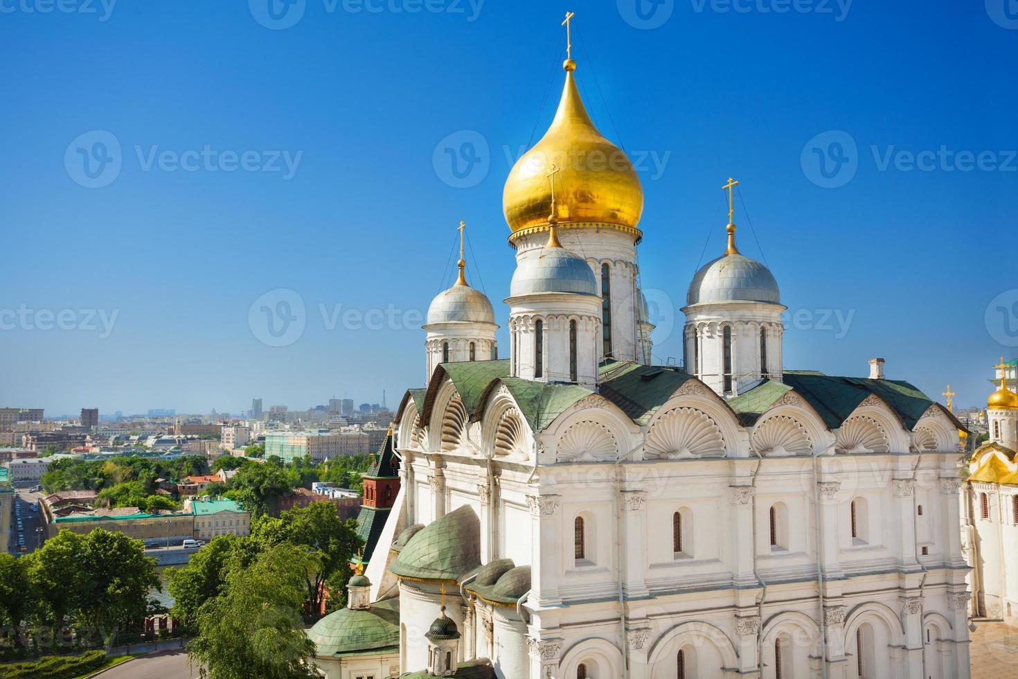 cúpula vista do palácio do patriarca, moscou kremlin foto