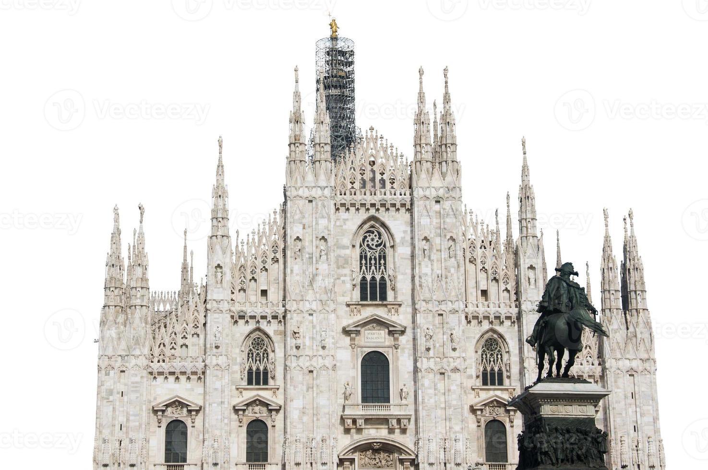 Catedral de Milão isolada foto