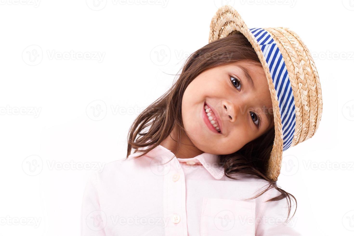 bonitinha, feliz e sorridente menina asiática asiática foto