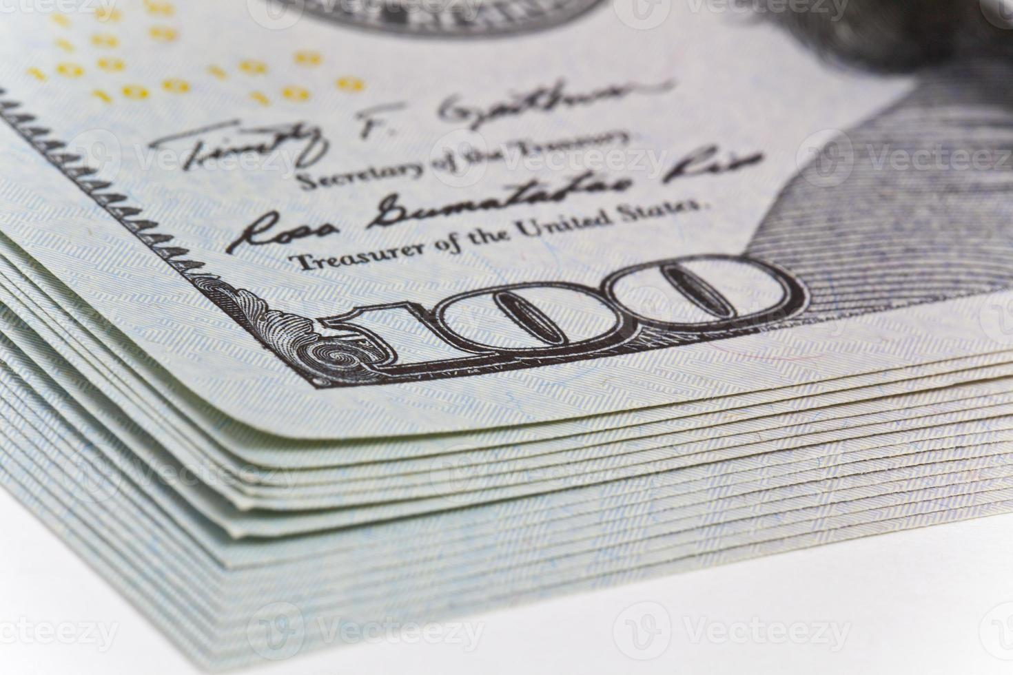 dólares em dinheiro foto