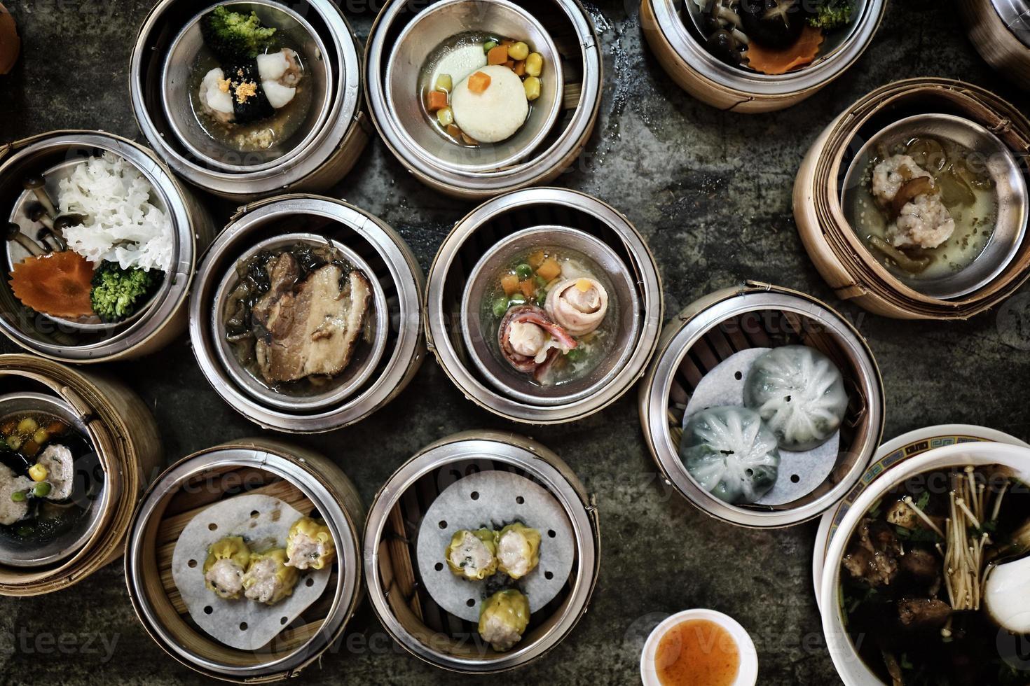 comida chinesa dimsum foto