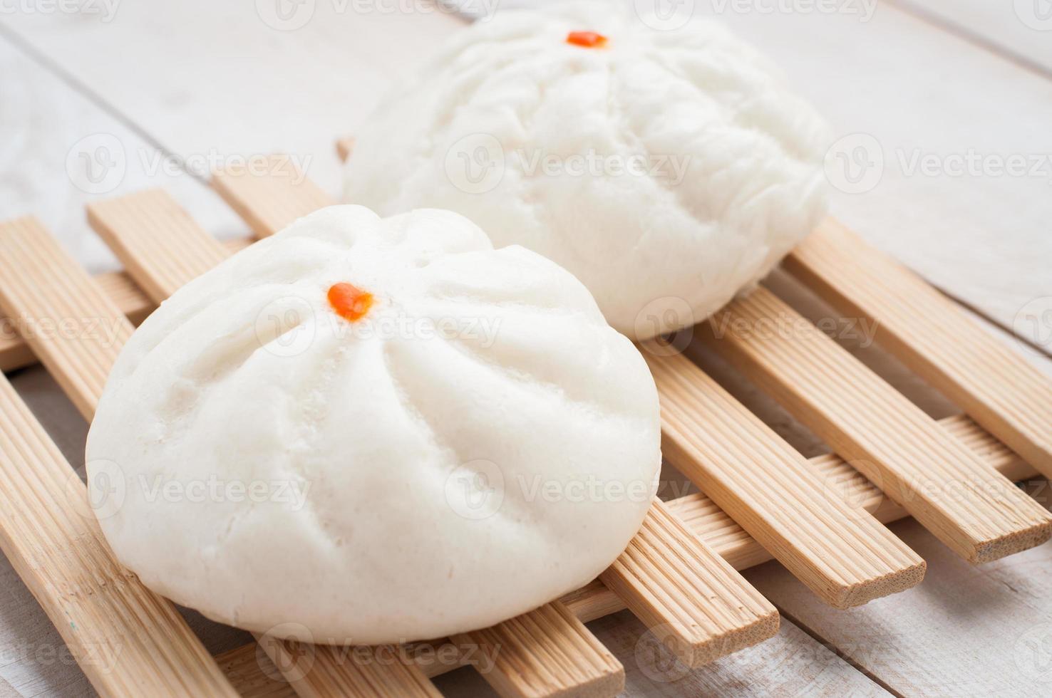 pãezinhos de porco para churrasco no vapor, pão chinês foto