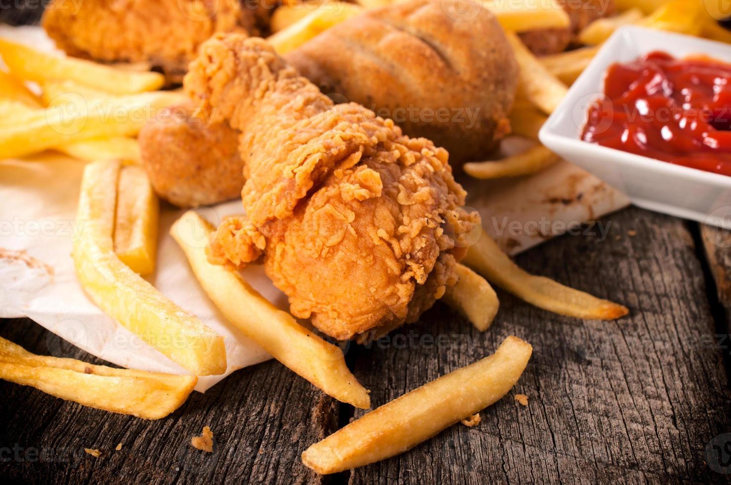 comida não saudável foto