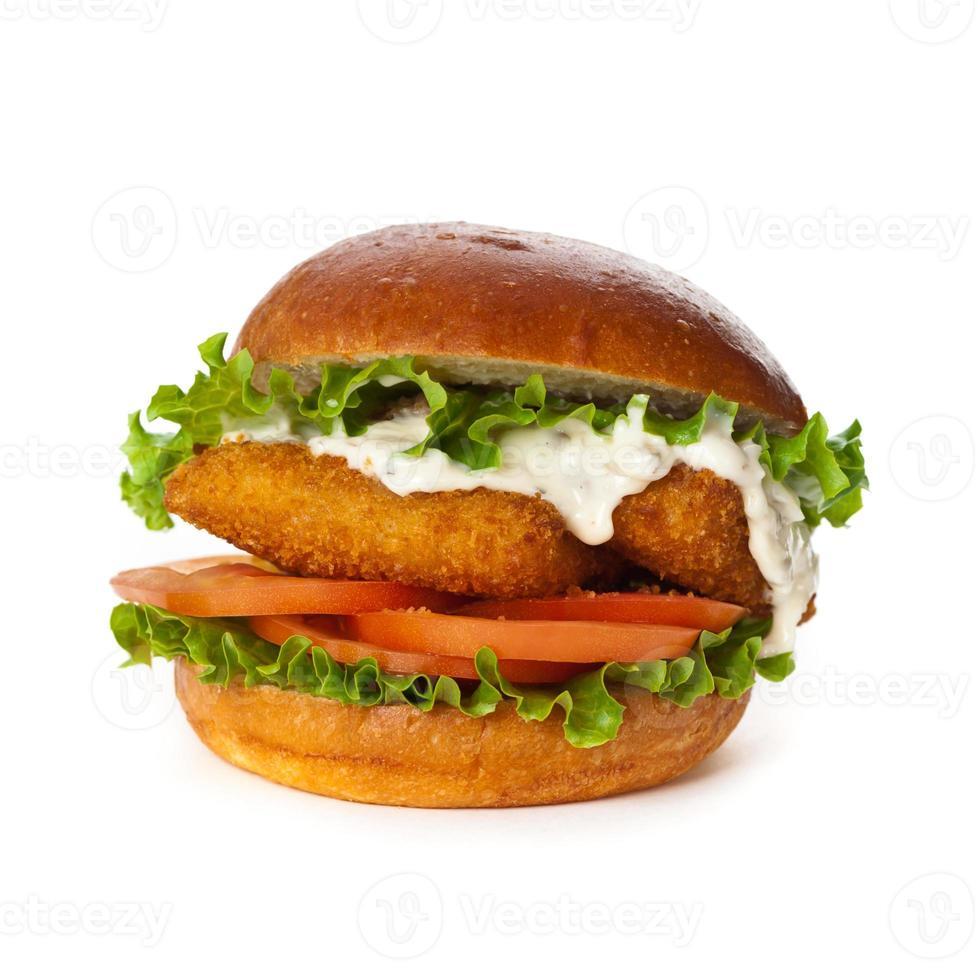 hambúrguer de peixe à milanesa foto