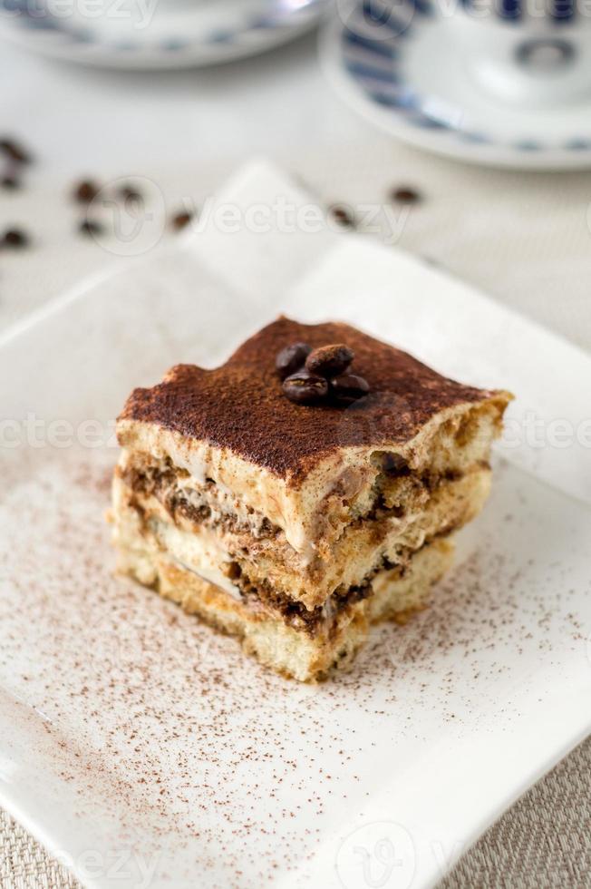 sobremesa de bolo tiramisu italiano foto
