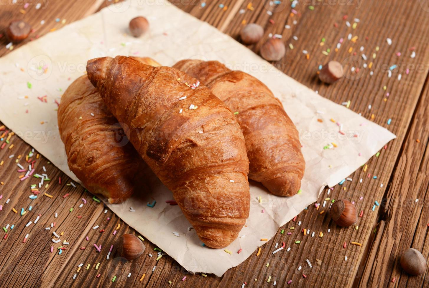 croissants frescos foto